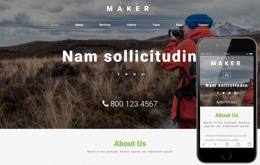 Photo Maker a Photo Gallery Bootstrap Responsive Web Template Mobile website template Free
