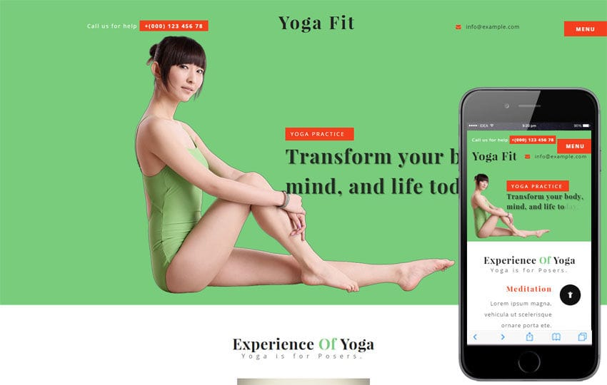 Yoga Fit a Sports Category Flat Bootstrap Responsive Web Template Mobile website template Free