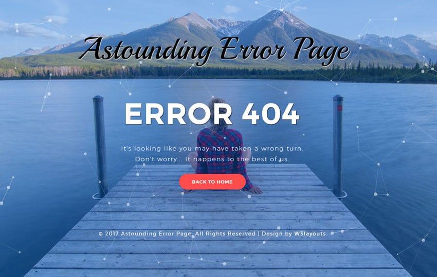 Astounding Error Page Responsive Widget Template Mobile website template Free