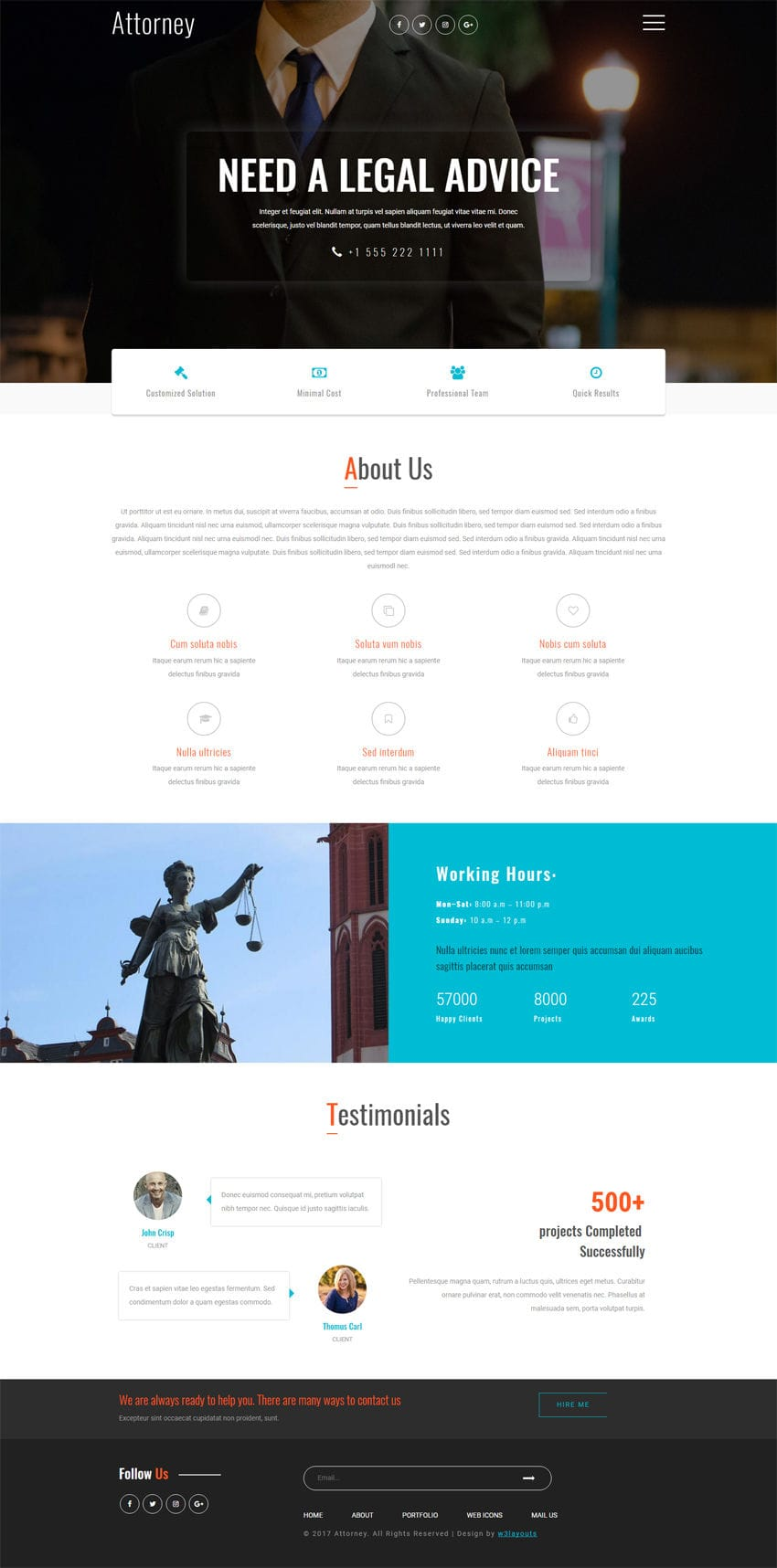 attorney a business category bootstrap responsive web template. Black Bedroom Furniture Sets. Home Design Ideas