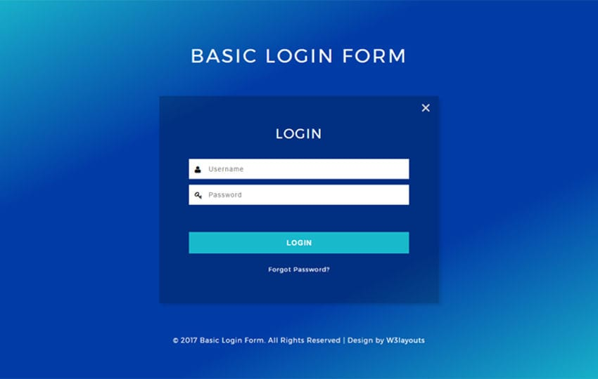 Basic Login Form a Flat Responsive Widget Template Mobile website template Free