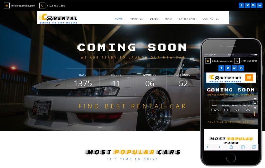 Car Rental an Autos and Transportation Flat Bootstrap Responsive Web Template Mobile website template Free