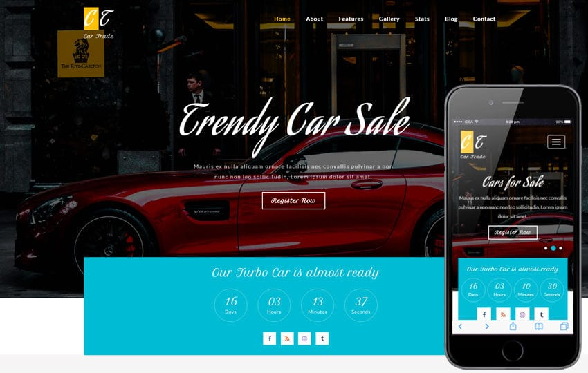 Car Trade an Autos & Transportation Bootstrap Responsive Web Template Mobile website template Free