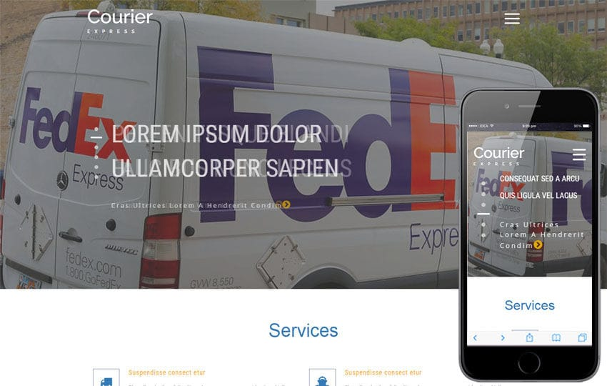 Courier Express a Transport Category Bootstrap Responsive Web Template Mobile website template Free