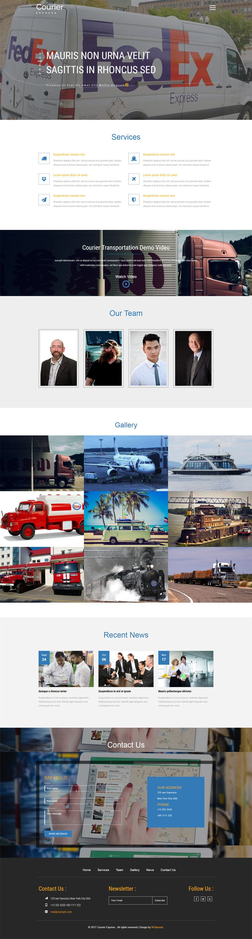 Courier Express a Transport Category Bootstrap Responsive Web Template