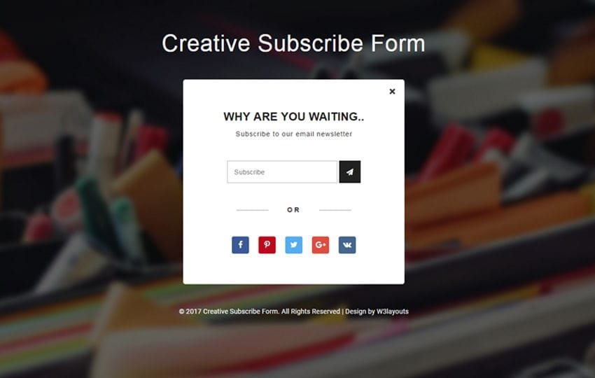 Creative Subscribe Form Flat Responsive Widget Template Mobile website template Free