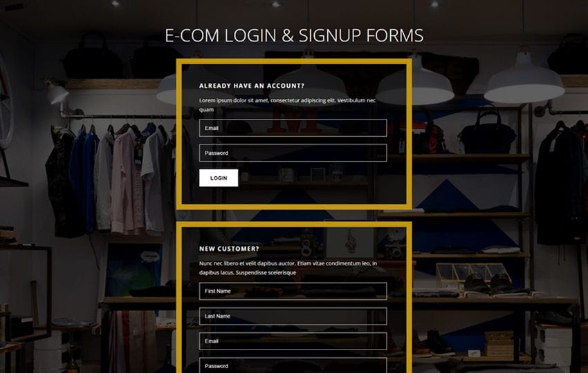 E-com Login and Signup Forms Flat Responsive Widget Template Mobile website template Free