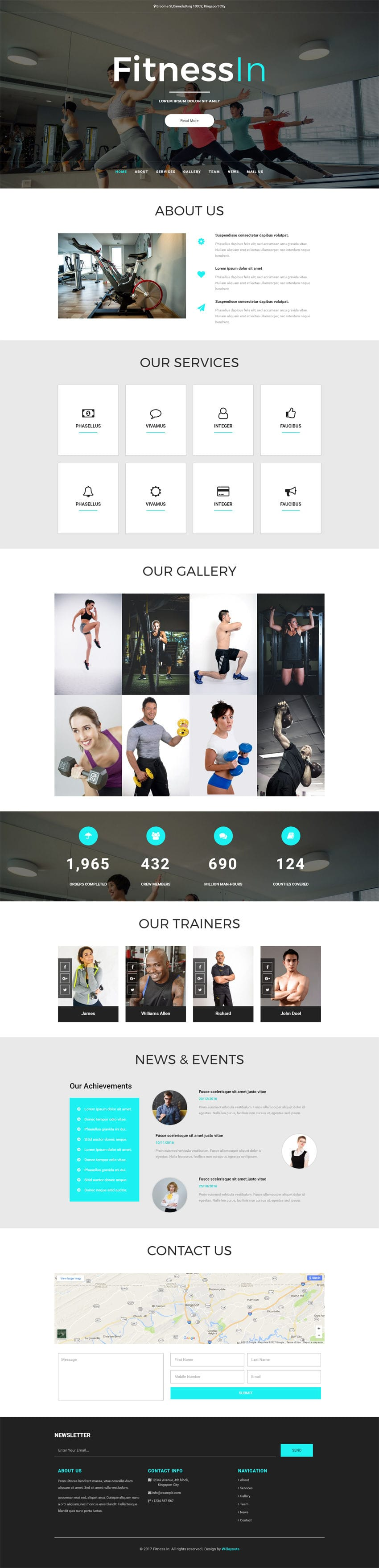 Fitness In a Sports Category Bootstrap Responsive Web Template