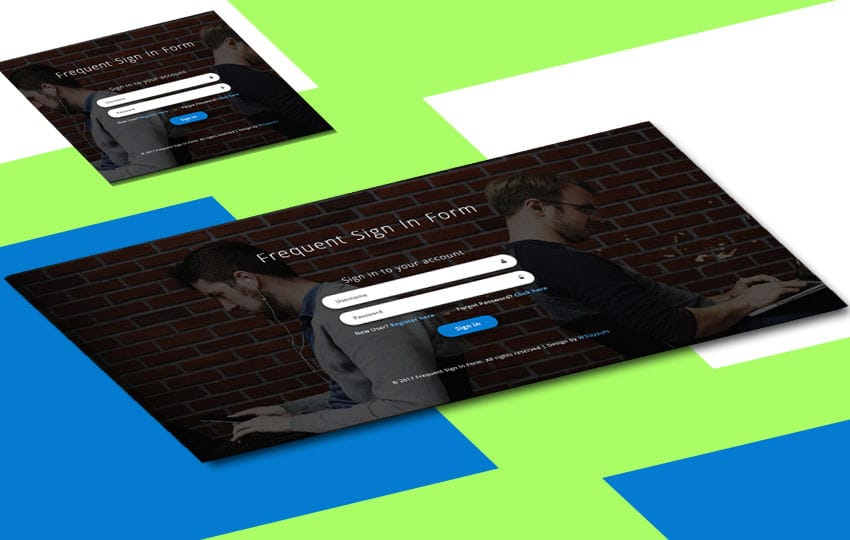 Frequent Sign in Form a Responsive Widget Template Mobile website template Free