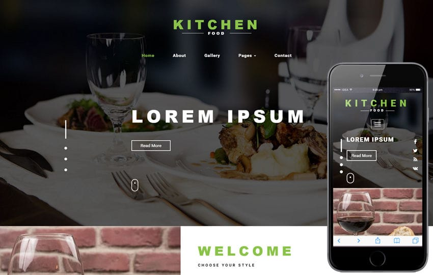 Kitchen Food a Restaurants Category Bootstrap Responsive Web Template Mobile website template Free