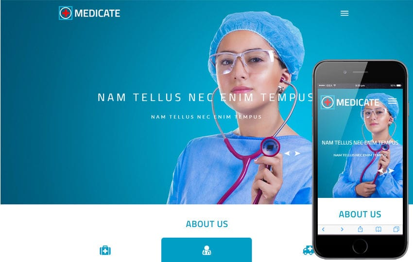 hospital website templates