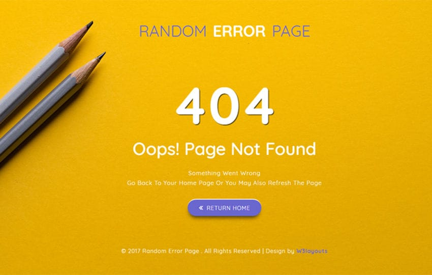 Random Error Page a Flat Responsive Widget Template Mobile website template Free