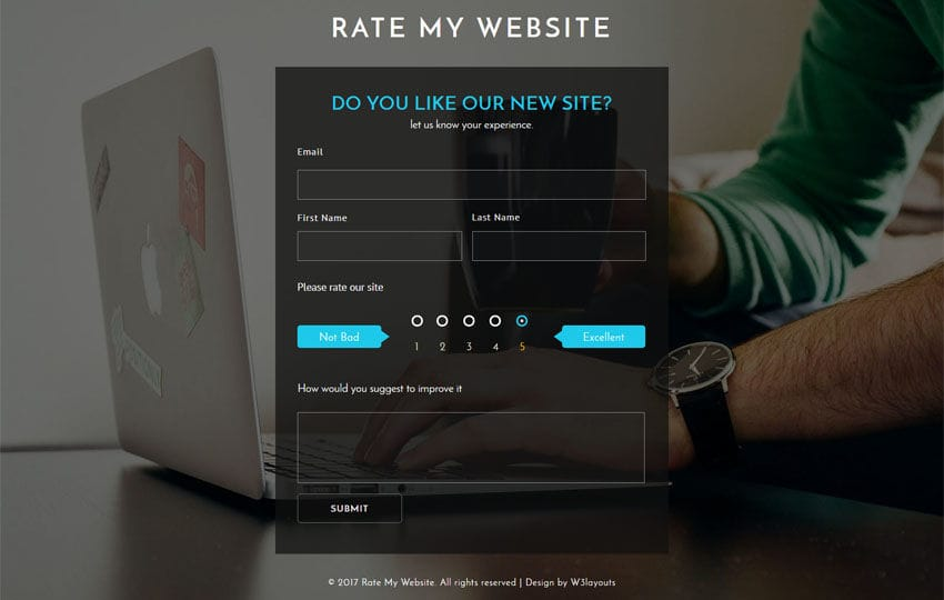 Rate My Website a Flat Responsive Widget Template Mobile website template Free