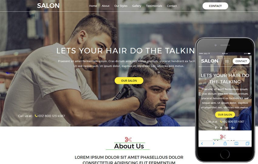 Salon a Beauty Category Bootstrap Responsive Web Template Mobile website template Free