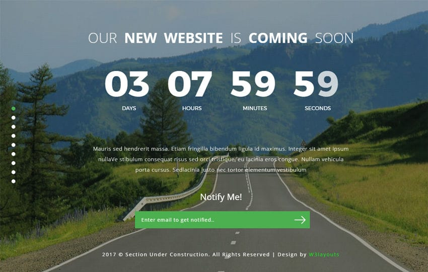 Section Under Construction a Flat Responsive Widget Template Mobile website template Free