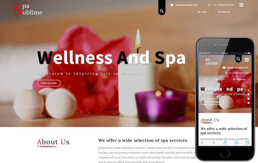 Spa Sublime a Beauty and Spa Category Bootstrap Responsive Template Mobile website template Free