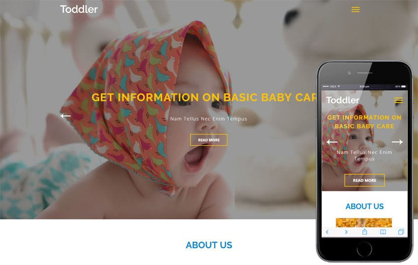 Toddler an Education Category Bootstrap Responsive Web Template Mobile website template Free