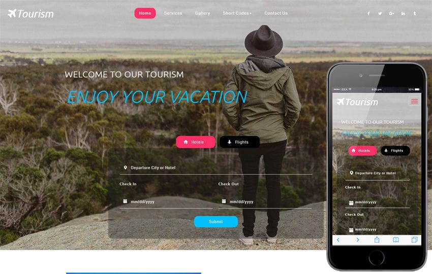 Tourism a Travel Category Flat Bootstrap Responsive Web Template Mobile website template Free