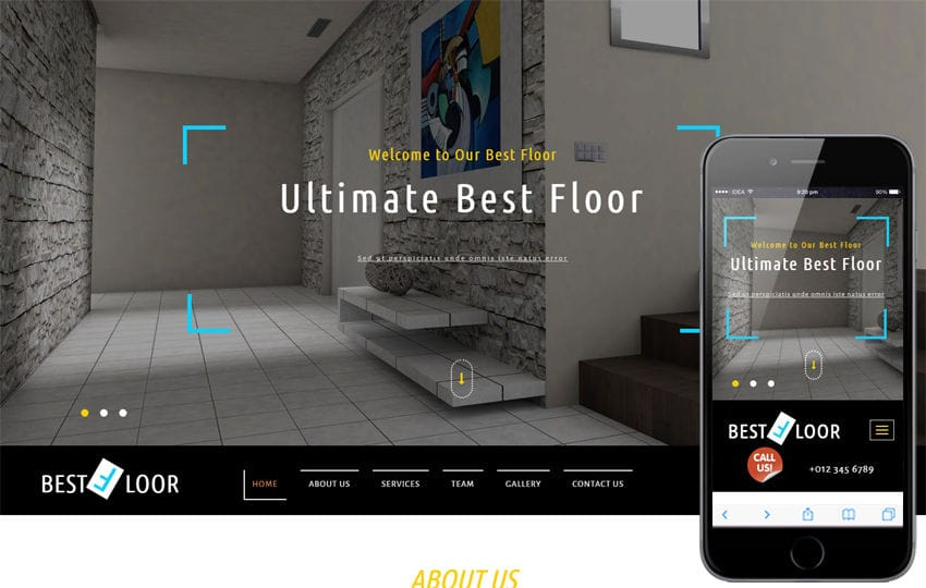 Best Floor an Interior Category Bootstrap Responsive Web Template Mobile website template Free