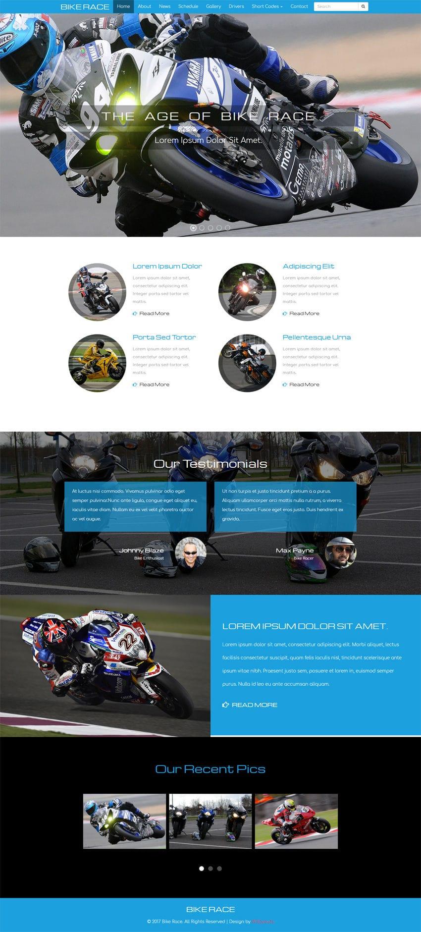 Bike Race A Sports Category Flat Bootstrap Responsive Web Template