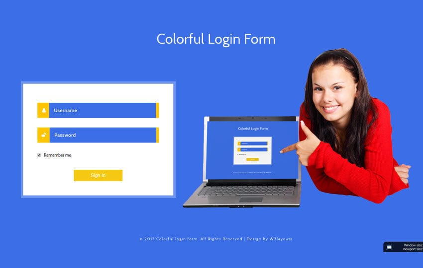 Colorful Login Form Flat Responsive Widget Template Mobile website template Free