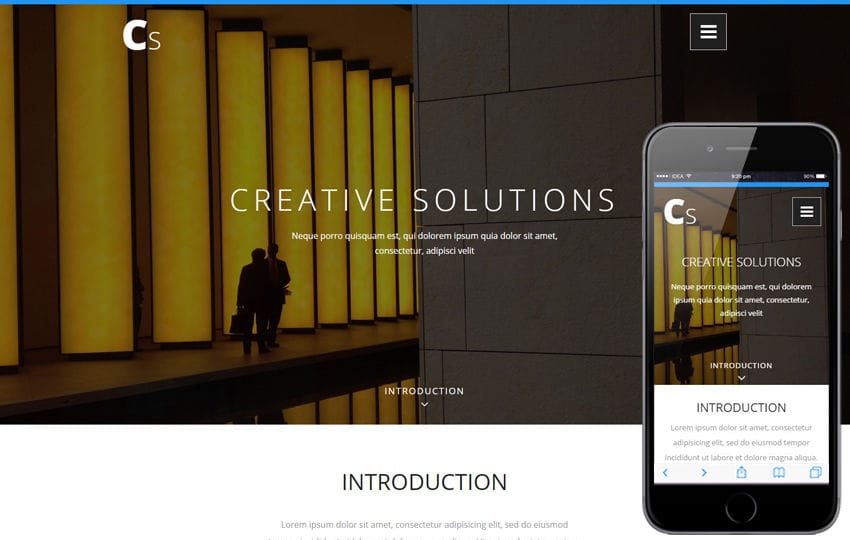 Creative Solutions a Corporate Category Bootstrap Responsive Web Template Mobile website template Free