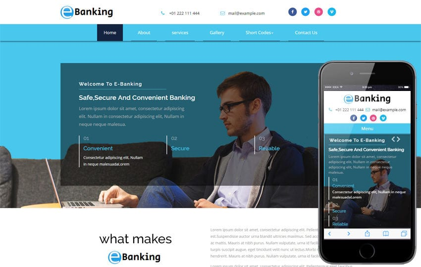 Net Banking - w3layouts.com