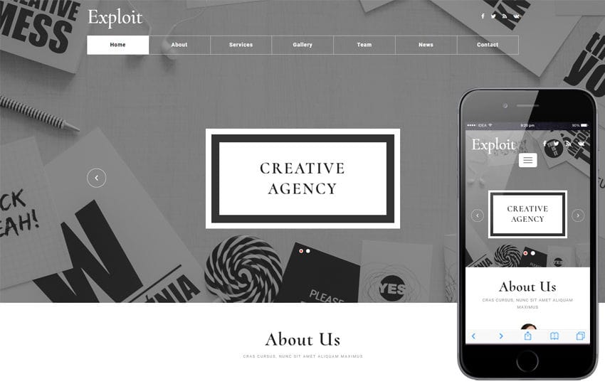 Exploit a Corporate Category Flat Bootstrap Responsive Web Template Mobile website template Free