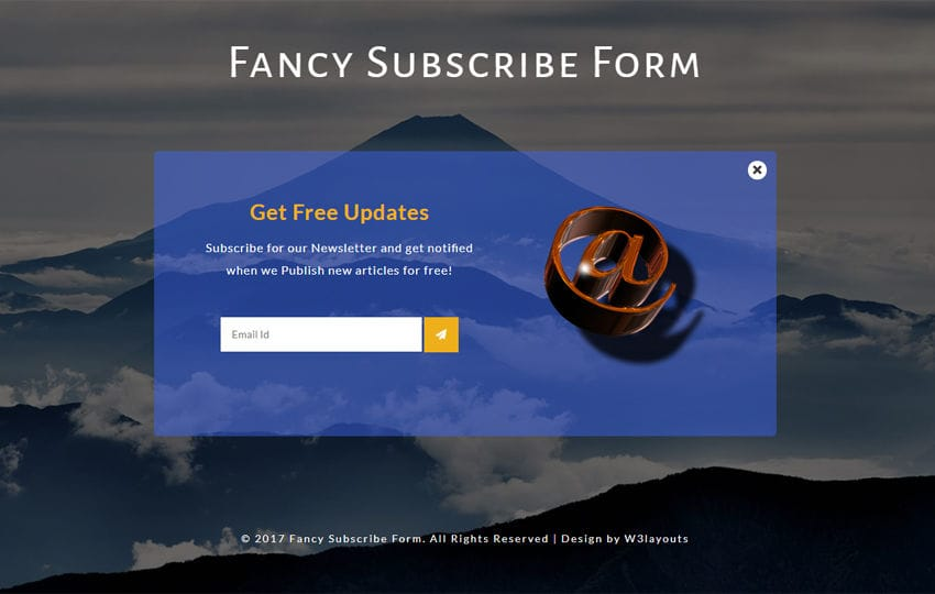 Fancy Subscribe Form Responsive Widget Template Mobile website template Free