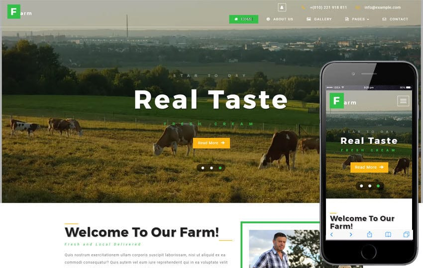 Farm an Agriculture Category Bootstrap Responsive Web Template Mobile website template Free