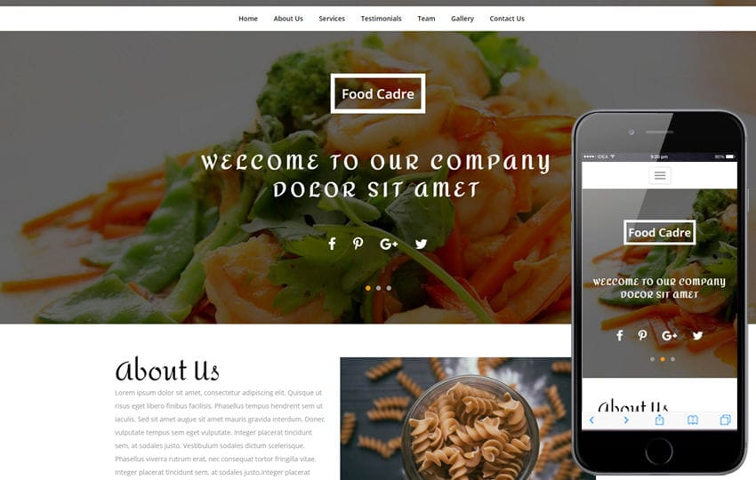Food Cadre a Restaurant Category Bootstrap Responsive Web Template Mobile website template Free