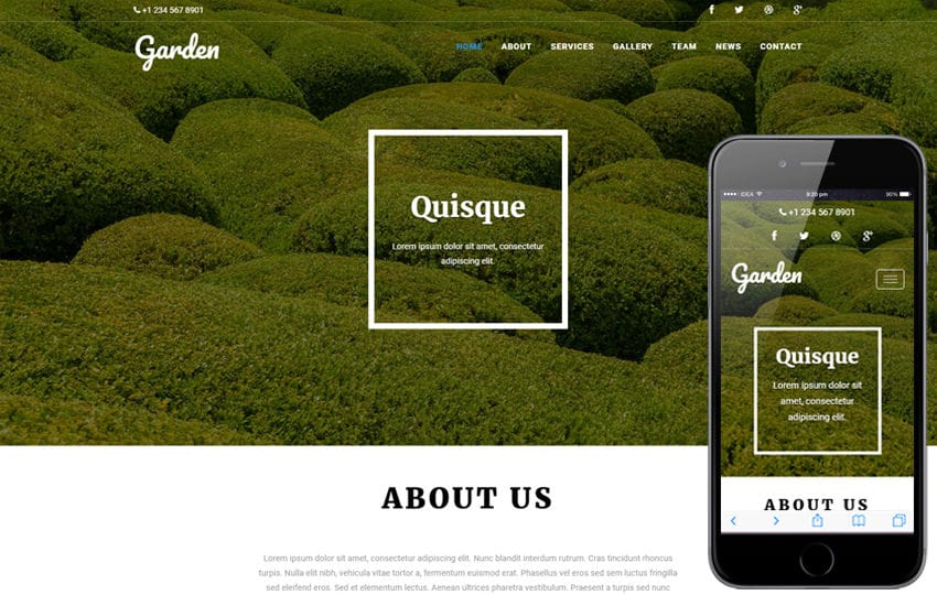 Garden an Agriculture Category Flat Bootstrap Responsive Web Template Mobile website template Free