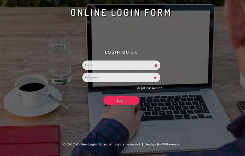 Online Login Form Responsive Widget Template Mobile website template Free