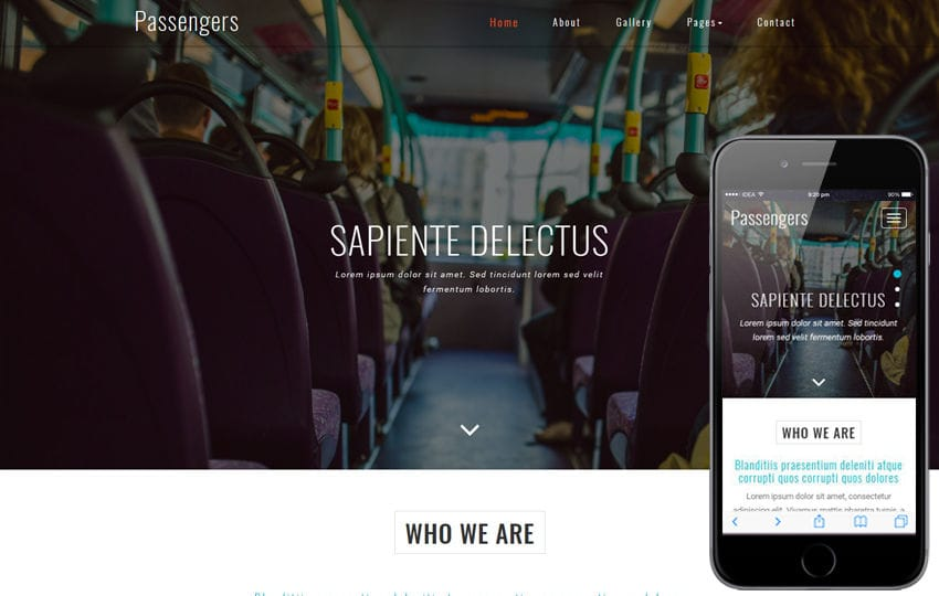 Passengers a Transportation Category Bootstrap Responsive Web Template Mobile website template Free