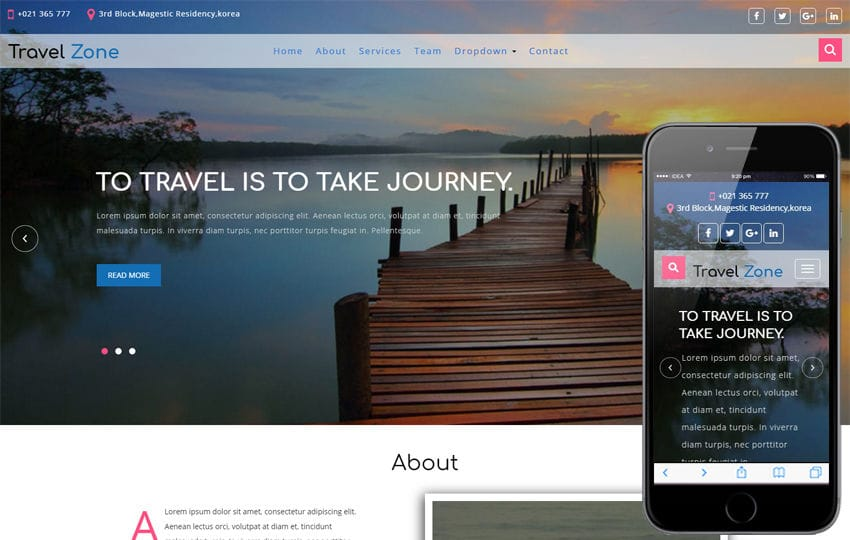 Travel Zone a Travel Category Bootstrap Responsive Web Template Mobile website template Free