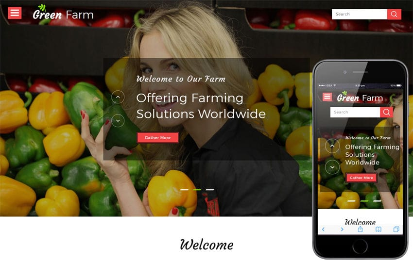 Green Farm an Agriculture Category Bootstrap Responsive Web Template Mobile website template Free