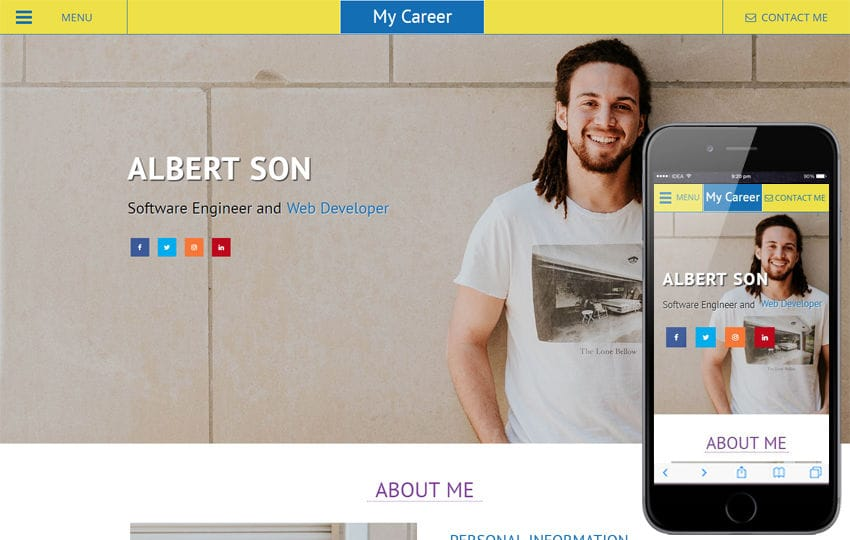 My Career a Personal Website Flat Bootstrap Responsive Web Template Mobile website template Free