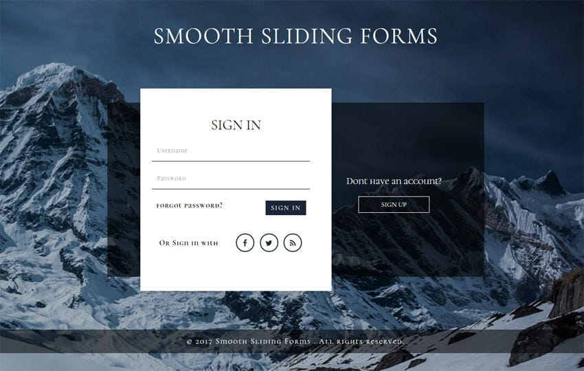 Smooth Sliding Forms a Flat Responsive Widget Template Mobile website template Free