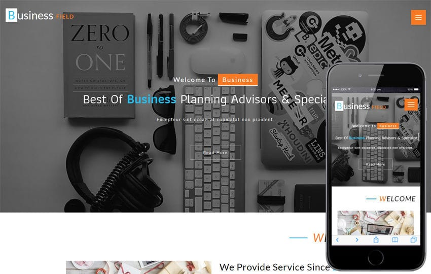Business Field a Corporate Category Bootstrap Responsive Web Template