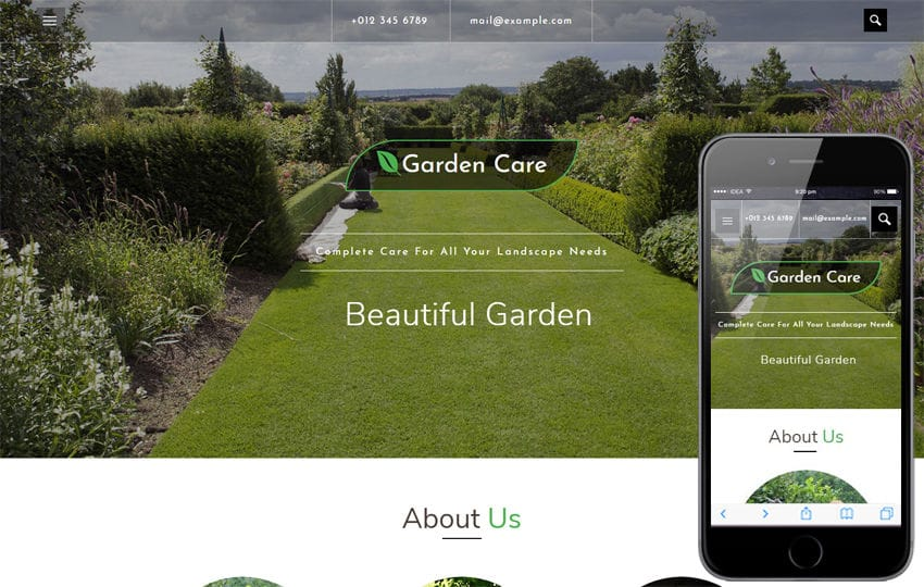 Garden Care an Agriculture Category Bootstrap Responsive Web Template Mobile website template Free