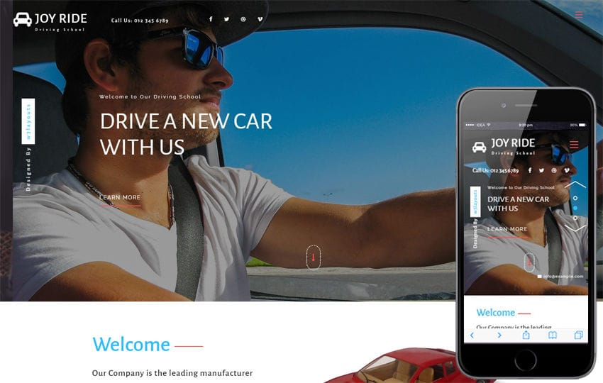 Joy Ride a Business Category Flat Bootstrap Responsive Web Template Mobile website template Free