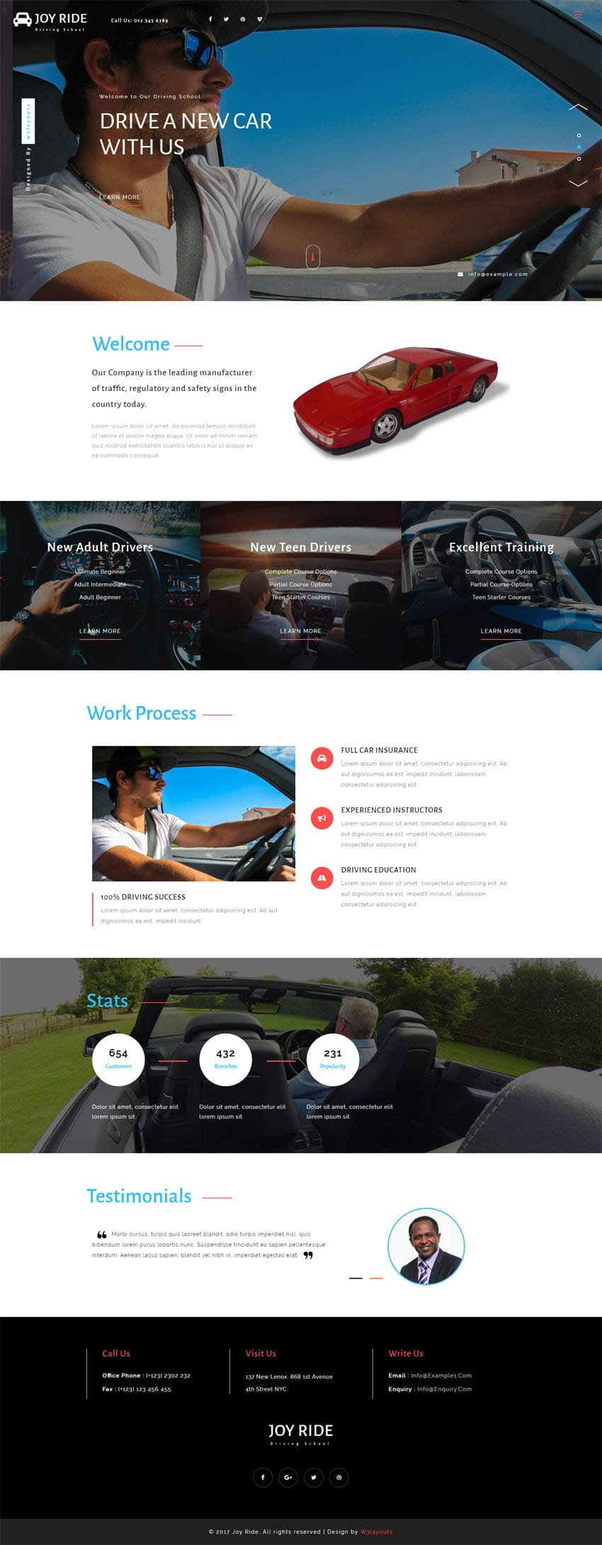 Joy Ride A Business Category Flat Bootstrap Responsive Web Template