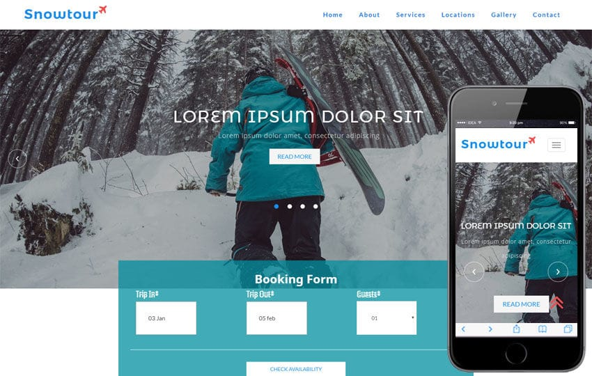 Snow Tour a Travel Category Bootstrap Responsive Web Template Mobile website template Free