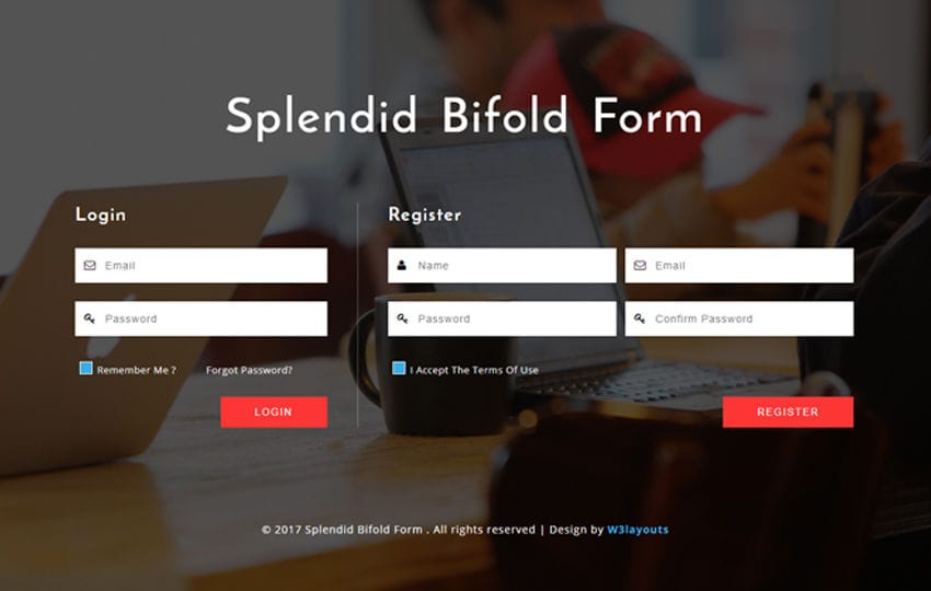 Splendid Bifold Form a Responsive Widget Template Mobile website template Free