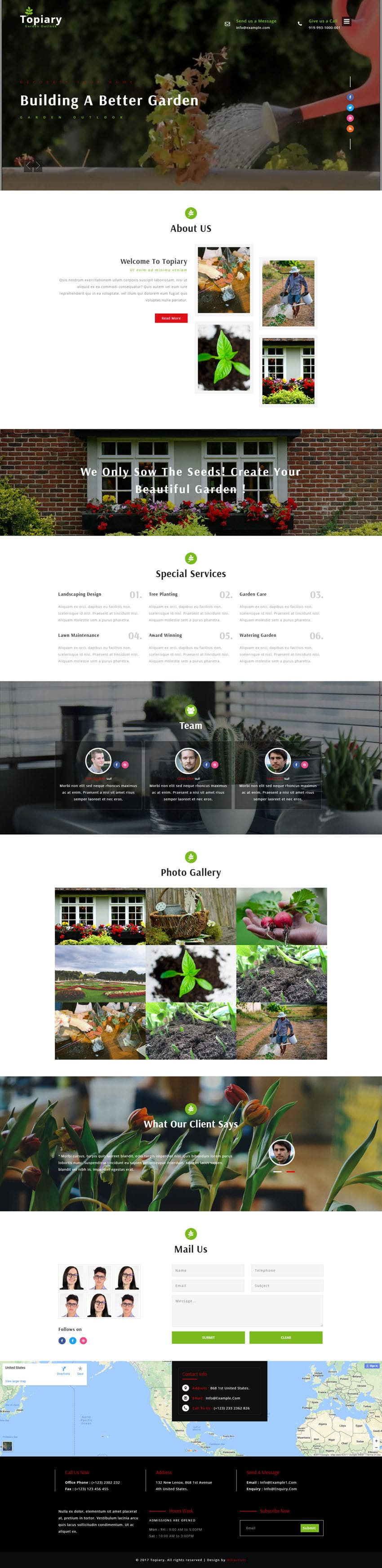 Topiary an exterior design category bootstrap responsive for Online exterior design services