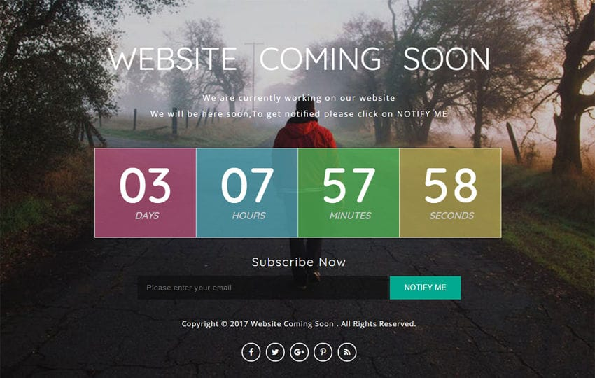 Website Coming Soon a Flat Responsive Widget Template Mobile website template Free