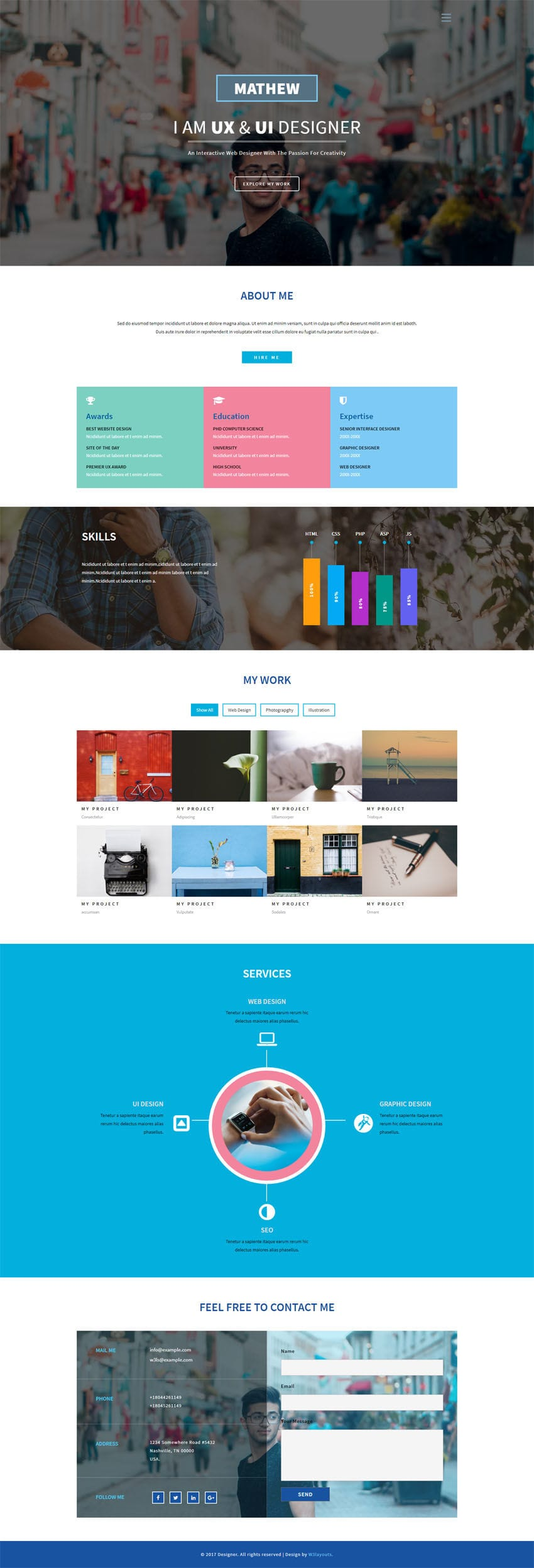 interactive web template