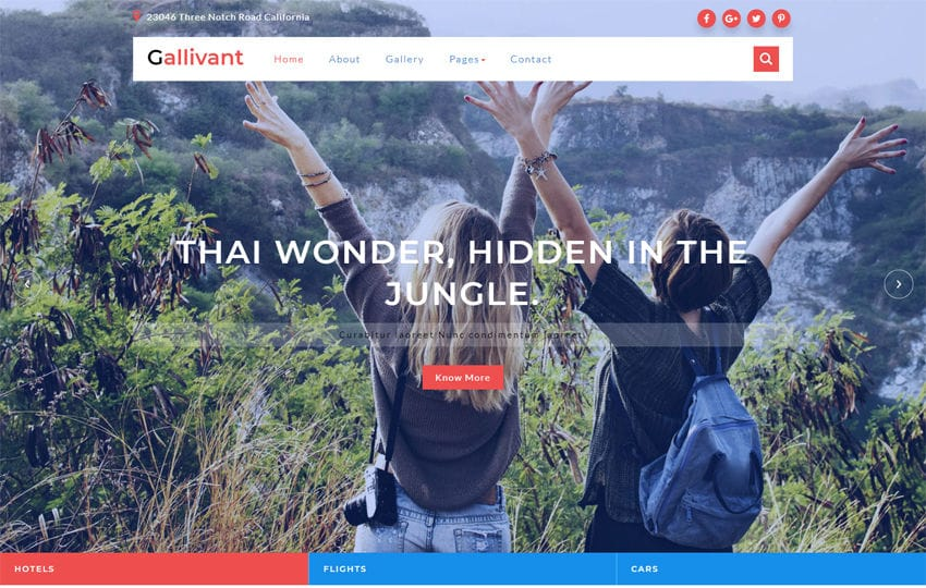Gallivant a Travel Category Bootstrap Responsive Web Template Mobile website template Free