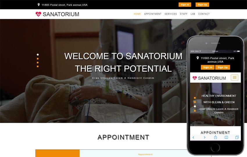 Sanatorium a Medical Category Bootstrap Responsive Web Template