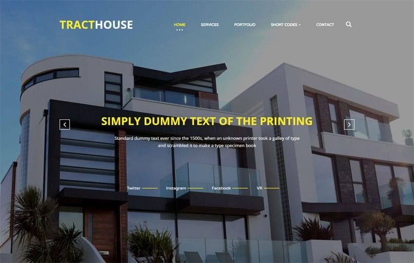 Tract House a Real Estates Category Bootstrap Responsive Web Template Mobile website template Free